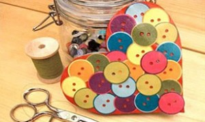 Beautiful Button Heart Craft