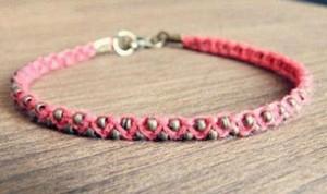 Diy Beautiful Pink Bracelet