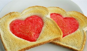 Diy Heart Toast