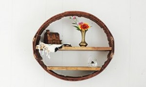 DIY Circle Shelf From Barrel