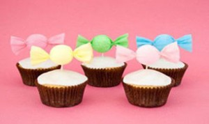 Make a Candy Cupcake Toppers