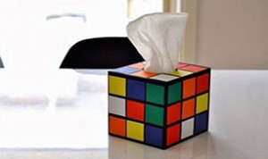 DIY Rubik's Cube Tissue Box Cover