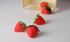 Diy Fabric Strawberry