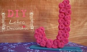 Diy Letra Decoration