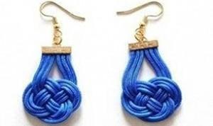 Beautiful Blue Ear Drop