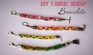 Diy Fabric Scrap Bracelet