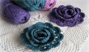 Beautiful Knitting Flower