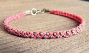 Diy Beautiful Pink Bracelet