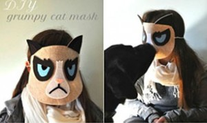 Diy Grumpy Cat Mask