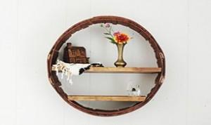 DIY Circle Shelf From Barrel