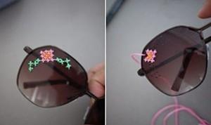 Stunning DIY Embroidered Sunglasses