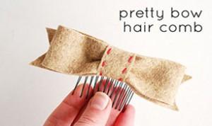 Diy Bow Hair Comb