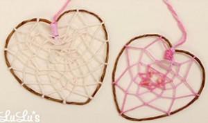 Diy Heart-shaped Dreamcatcher