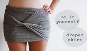 DIY Beautiful Draped Skirt