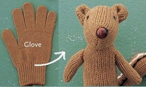 DIY Cute Glove Bear