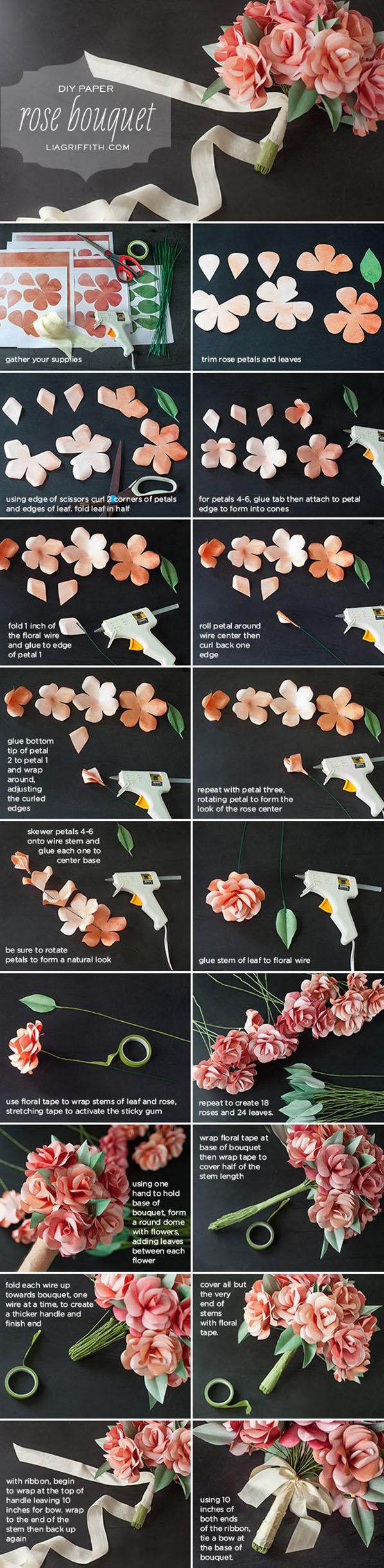 Букет цветов своими руками из бумаги и конфет