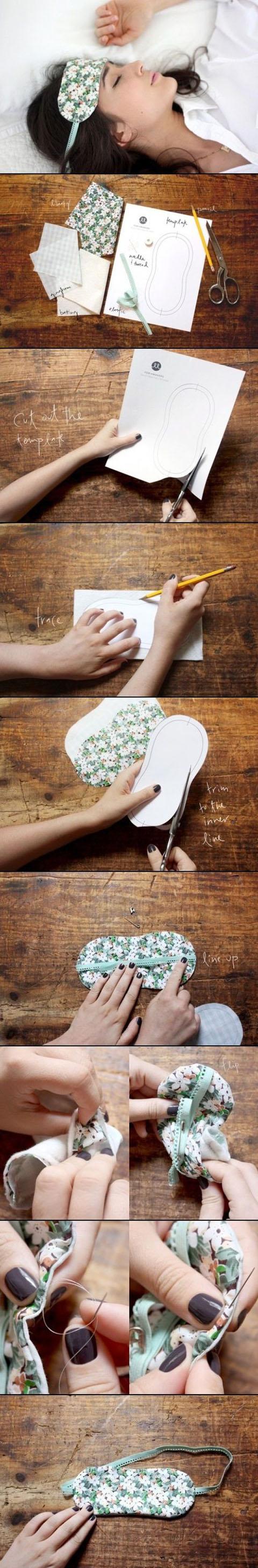 DIY Floral Patterned Sleeping Mask11