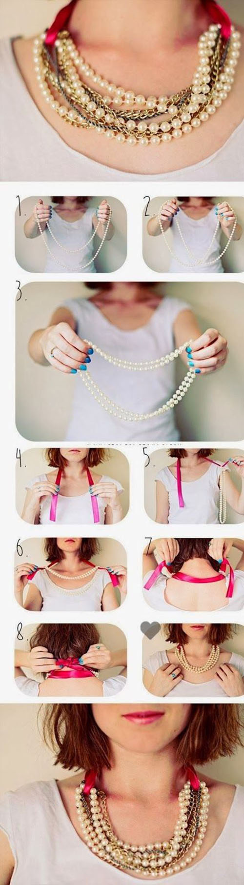 DIY Pearl Necklace In Seconds11
