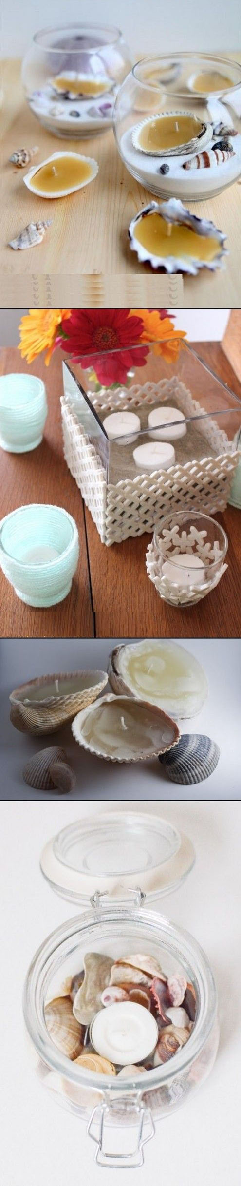 DIY candle holder in beach style11