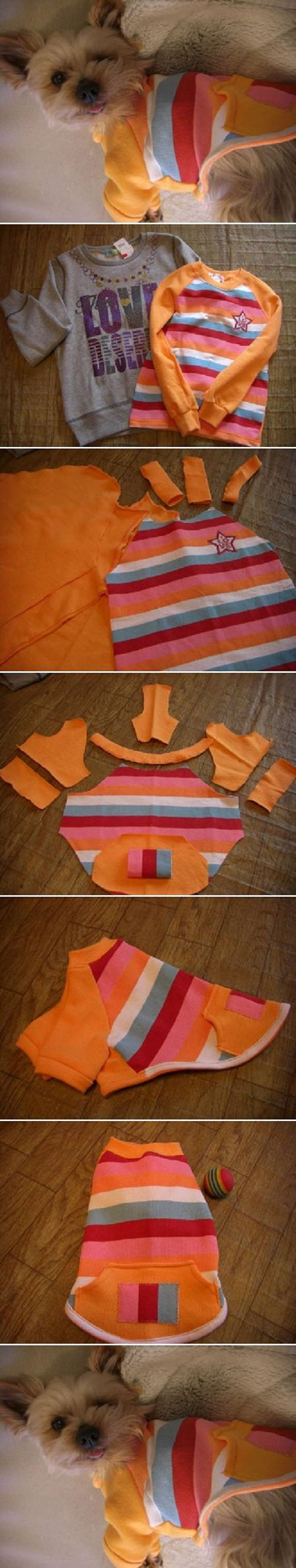 Easy DIY Dog Sweater11