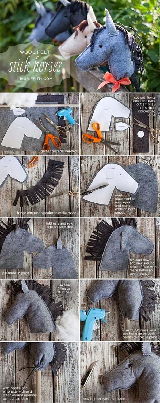 Felt Stick Horses11