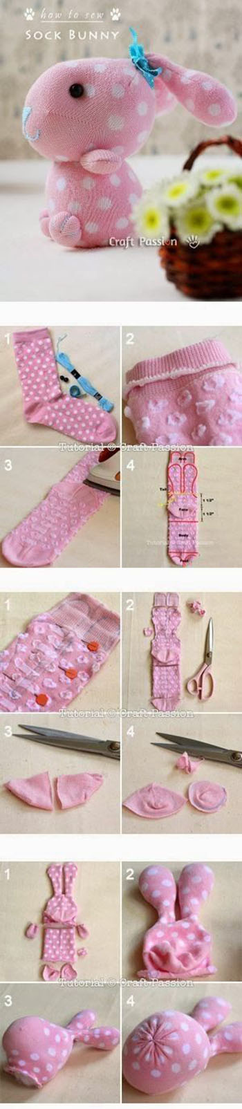 Sock Bunny Craft Tutorial11