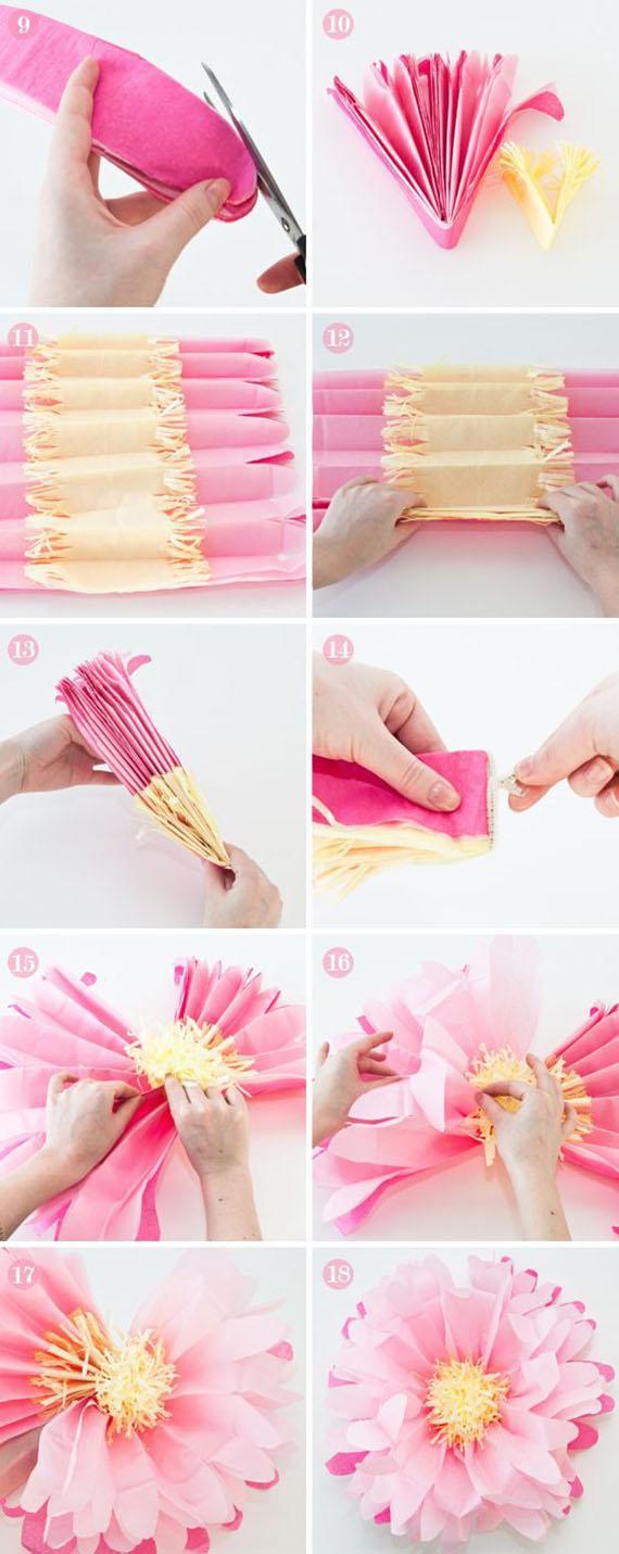 make tissue paper flowers11