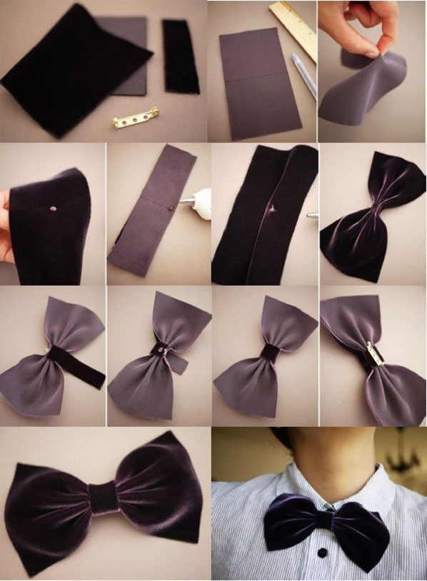 Как сшить самим бабочки галстуки